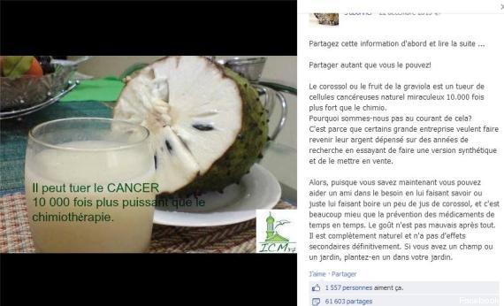 Мнимая эффективность фруктов в борьбе с раком